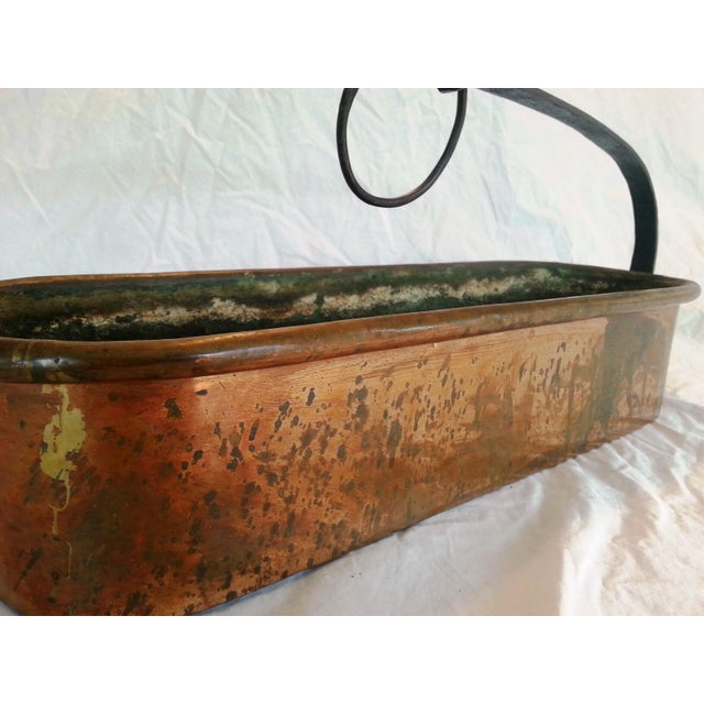 Vintage French Copper Hanging Planter - Image 4 of 8