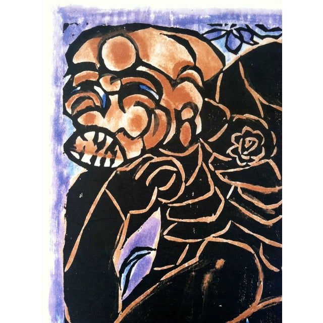 Mid-Century Japanese Woodblock Print 1 - Image 3 of 5