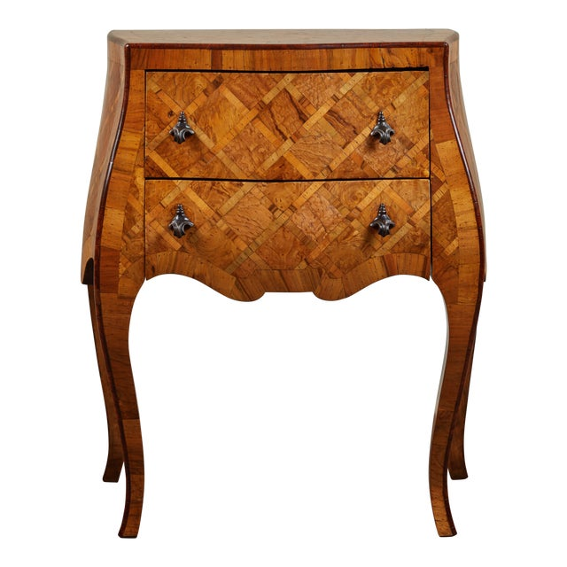 Early 20th C. Italian Marquetry Petite Chest of Drawers For Sale