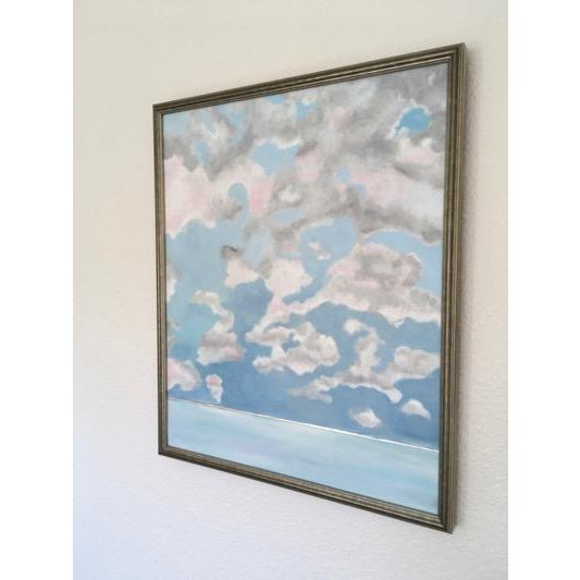 Abstract Pink Cloud Sky Original Painting by Natalie Mitchell For Sale - Image 3 of 7