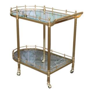 Brass Vintage Tea Cart