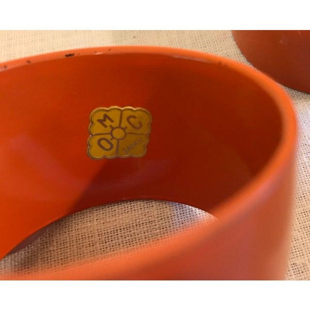 Red Mid-Century Modern Orange Napkin Rings - Set of 6 For Sale - Image 8 of 9