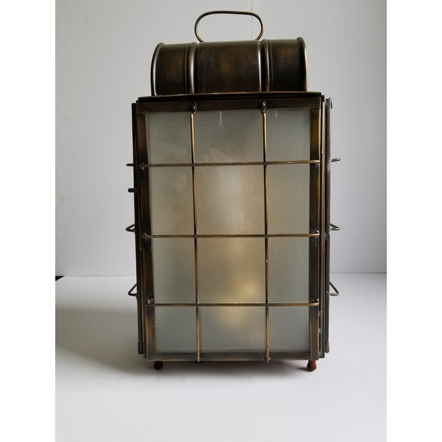 American Colonial Style Brass Lantern Lamp For Sale - Image 12 of 12
