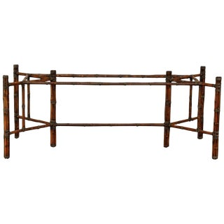 McGuire Rectangular Bamboo Dining Table Base