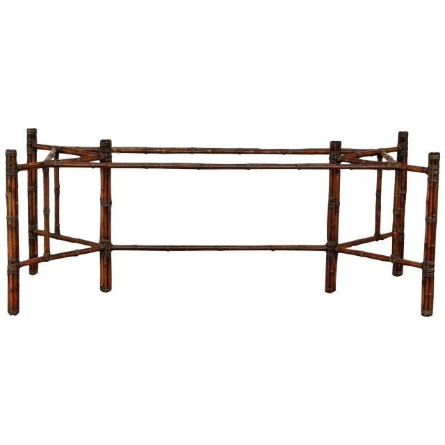 McGuire Rectangular Bamboo Dining Table Base For Sale