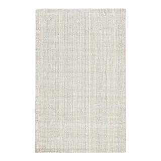 Jaipur Living Kelle Handmade Solid White Gray Area Rug 5'X8' For Sale