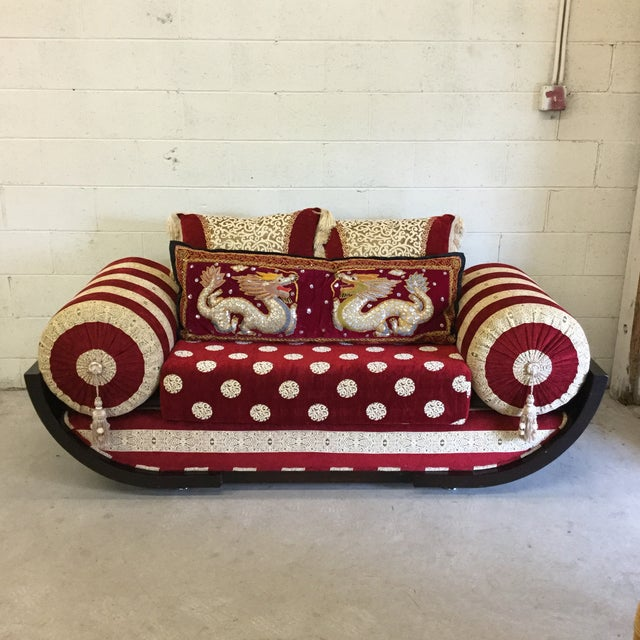 Moroccan Style Love Seat For Sale - Image 9 of 9