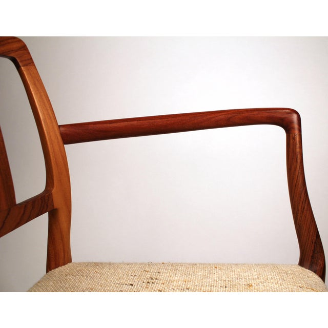 White Set of 10 Dining Chairs in East Indian Rosewood by Niels Otto Moller For Sale - Image 8 of 10