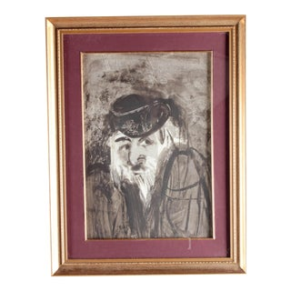 """Fagin"" Richard Jerzy (American 1943-2001) Watercolor Painting For Sale"