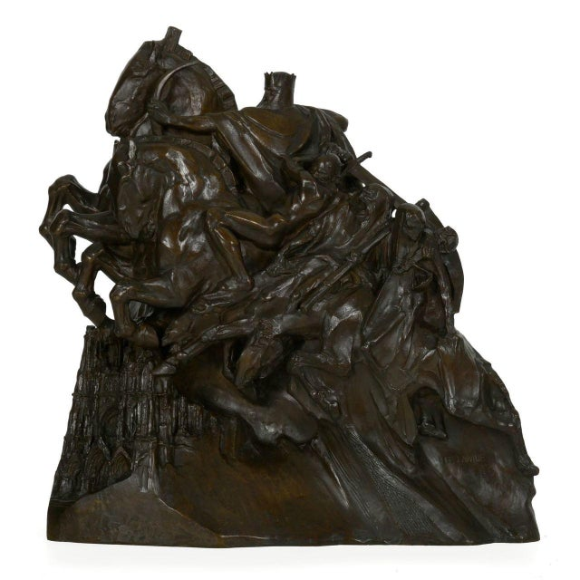 """The Four Horsemen of the Apocalypse"" Bronze Sculpture by Lee Oscar Lawrie (German/American, 1877-1963) For Sale - Image 13 of 13"