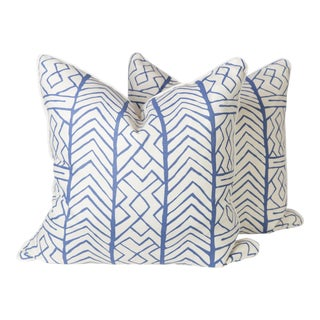Alan Campbell Blue Aruba Pillows - A Pair