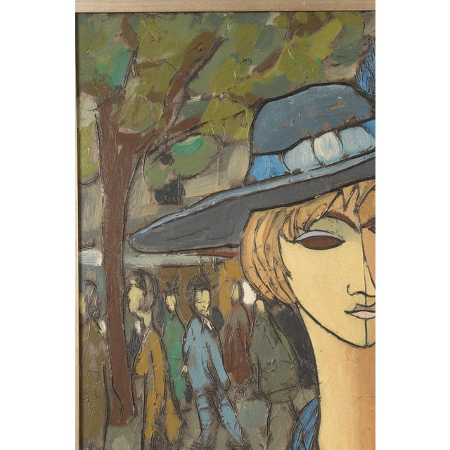 Painting of a Lady in Blue by Philippe Marchand For Sale In Los Angeles - Image 6 of 13