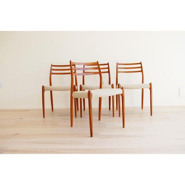 J L Moller Danish Modern Model 78 Teak Dining Chair - Set of 4 For Sale - Image 13 of 13