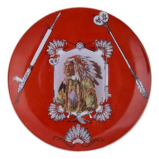 Royal Saxe Chief High Hawk Plate For Sale