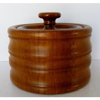 Danish Teak Wood Ice Bucket Preview