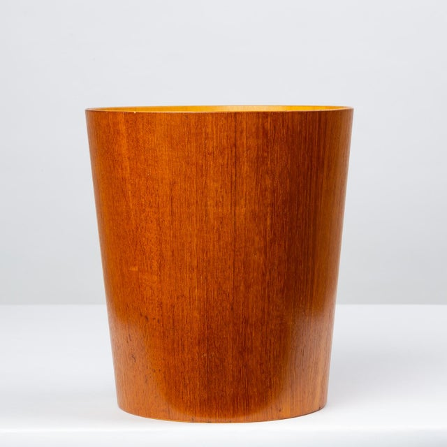 Danish Modern Rainbow Wood Products Teak Wastebasket by Martin Åberg For Sale - Image 3 of 10