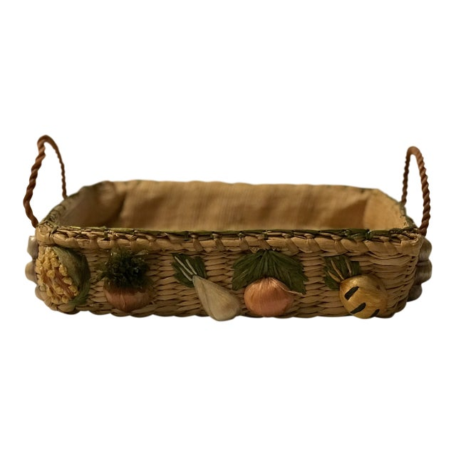 20th Century Rustic Style Grass Basket For Sale