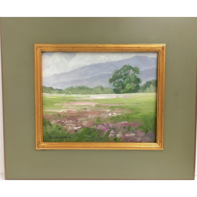 """Breaking Rain"" Framed Landscape Oil Painting - Image 2 of 4"