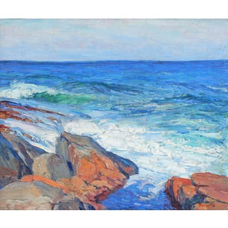 Impressionist Seascape Oil Painting by George Renouard For Sale