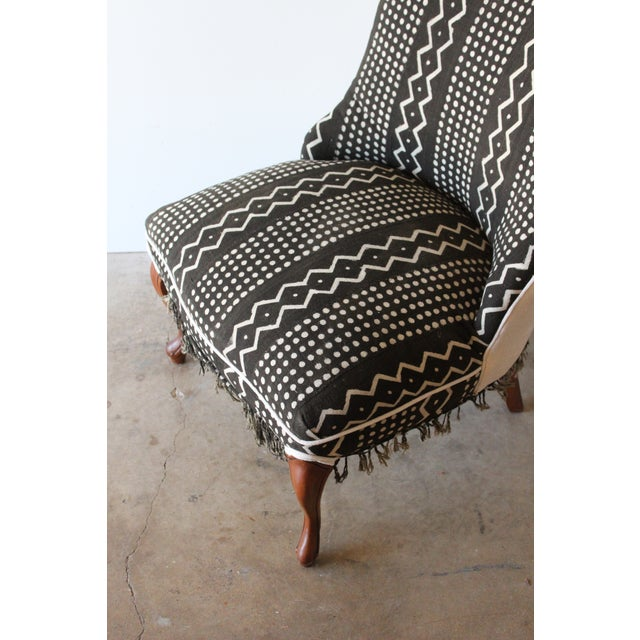 Vintage African Mudcloth Chairs - A Pair - Image 8 of 9