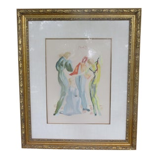 """La Danse"" Watercolor Painting by Dali Salvador For Sale"