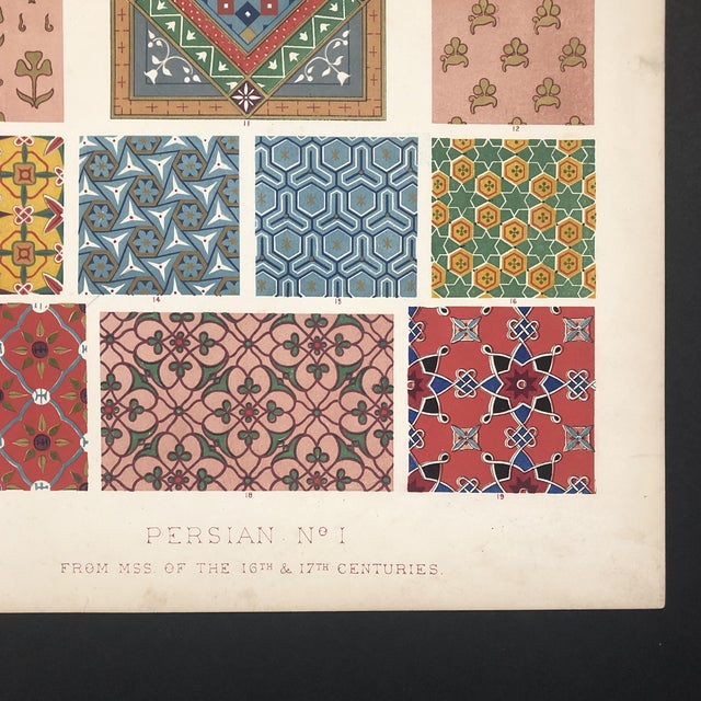 Islamic Persian Print From Grammar of Ornament For Sale - Image 3 of 12