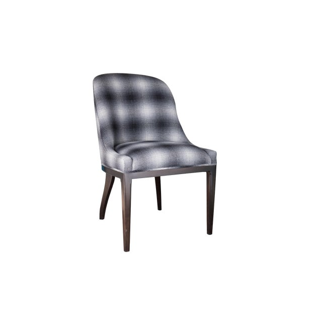 Fully Upholstered Spoon Back Dining Chair For Sale