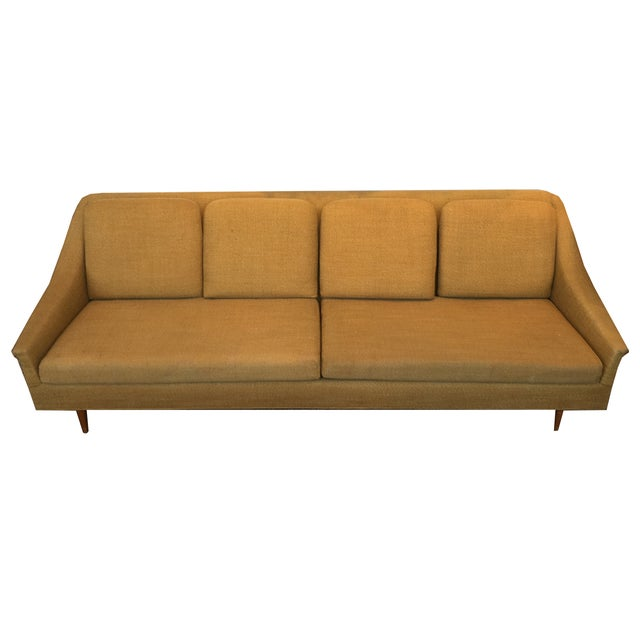 Mustard Danish Mid Century Sofa - Image 2 of 2