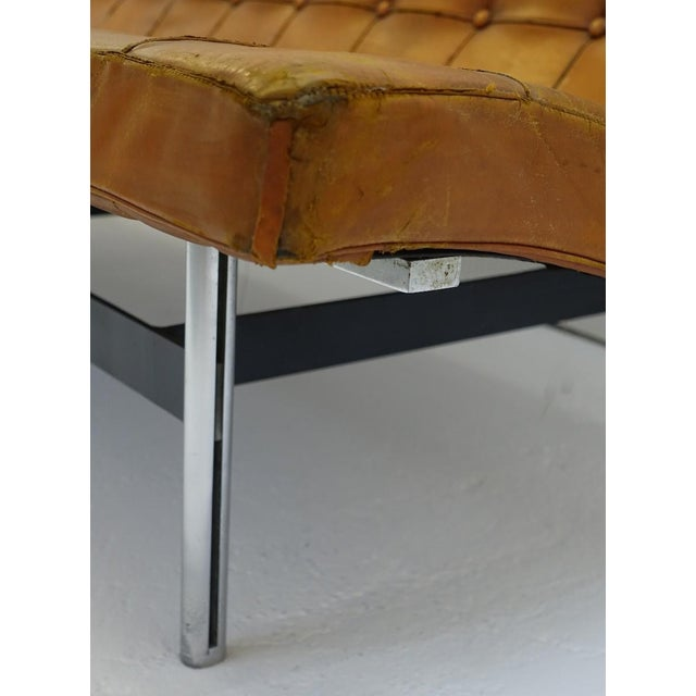 Brown Sofa by William Katavolos for Icf Milano, 1990 Italy For Sale - Image 8 of 10