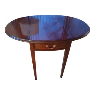 Queen Anne Mahogany Drop Leaf End Table For Sale