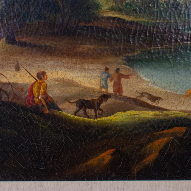 Traditional Early 20th Century Antique Buson Italianate Landscape Painting For Sale - Image 3 of 10