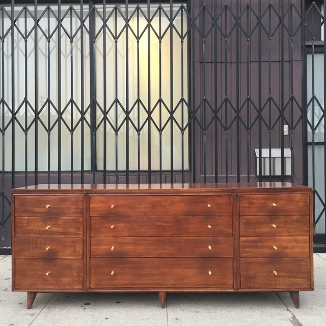 Mid Century Lowboy With Dotted Brass Knobs For Sale - Image 13 of 13