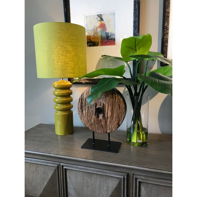 Mid-Century Modern Mid-Century Modern Contour Lime Table Lamp For Sale - Image 3 of 8