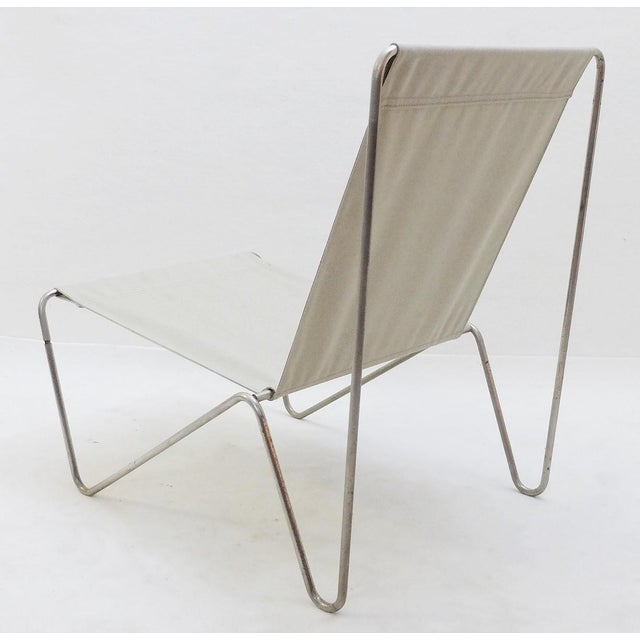 Gray Pair of Verner Panton Bachelor Chairs, 1960's - New Canvas For Sale - Image 8 of 9