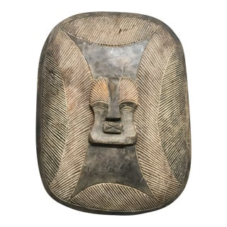 African Art Carved Wood Songye Shield For Sale