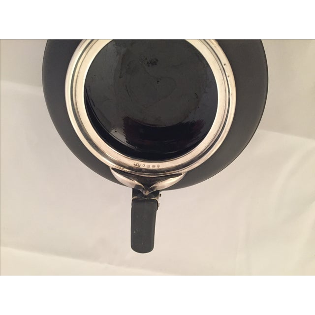 Wedgwood Sterling Silver & Black Basalt Teapot - Image 7 of 7