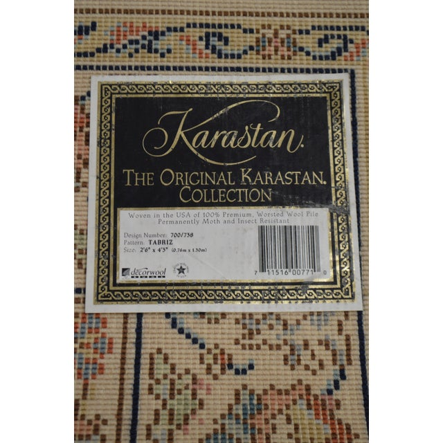 "Karastan Tabriz 2'6""x4'3"" Throw Rug (A) For Sale - Image 10 of 12"