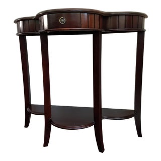 Crescent Demi-Lune Style Hall or Side Table or Night Stand For Sale