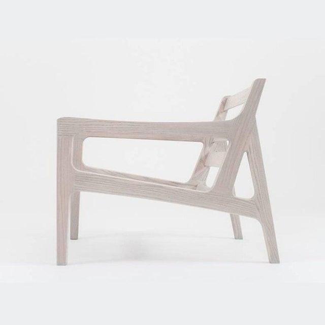 Asa Pingree Asa Pingree Pilar Lounge Chair in Fog Gray Ash For Sale - Image 4 of 11