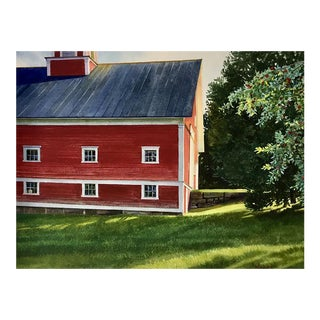 """Village Barn"" Original Watercolor on Paper by Kathleen Kolb For Sale"
