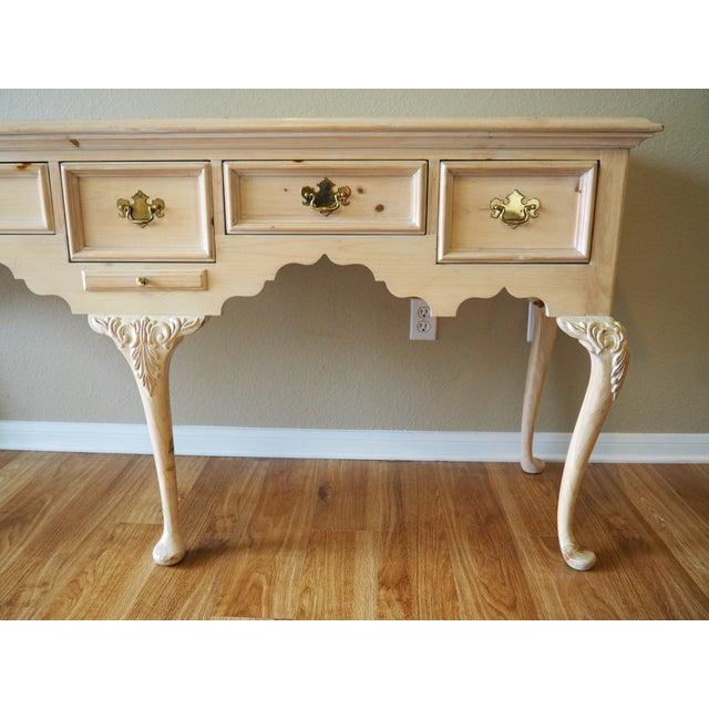 1990s Shabby Chic Lexington Link Taylor Console Table For Sale - Image 12 of 13