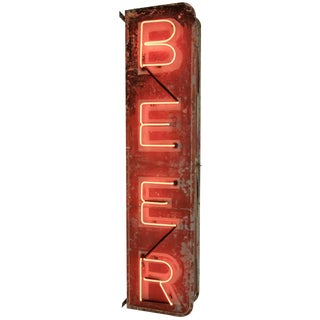 Double-sided Vertical Beer Sign Circa 1935