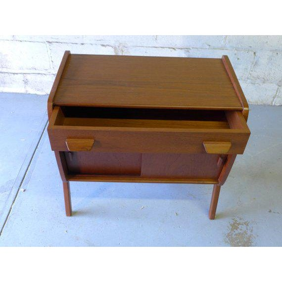 1960s Mid Century Modern Teak Cabinet / Mini Credenza For Sale - Image 5 of 7