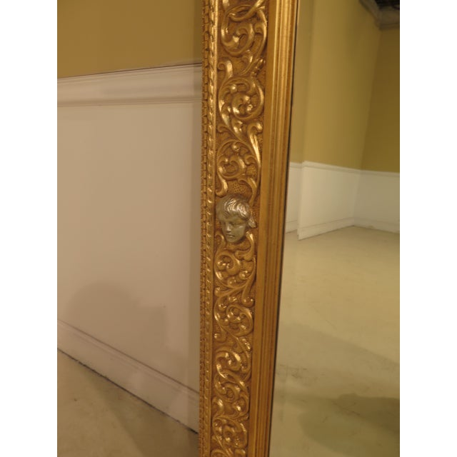 Friedman Brothers Custom Mirror With Cherub Heads - Image 5 of 11