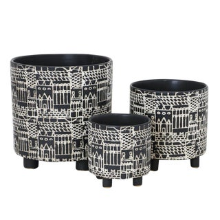 Mother Africa Planters - Set of 3 For Sale