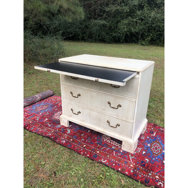 Hickory White Hickory White Chest With Flutted Drawers and Greek Key Legs For Sale - Image 4 of 13