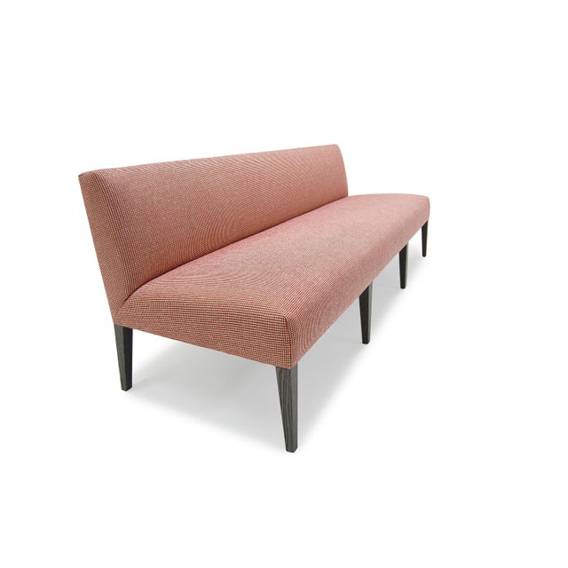 Mid-Century Modern Morgan Banquette Tight Seat and Back with Wire Brushed Oak For Sale - Image 3 of 6
