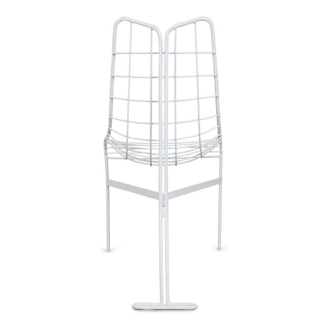 """1985 Vladimir Kagan """"Capricorn"""" Outdoor Dining Chairs and Table, Restored For Sale In Los Angeles - Image 6 of 9"""