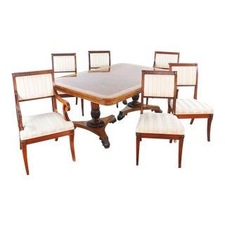English Regency Baker Furniture Dining Set - 7 Pieces For Sale