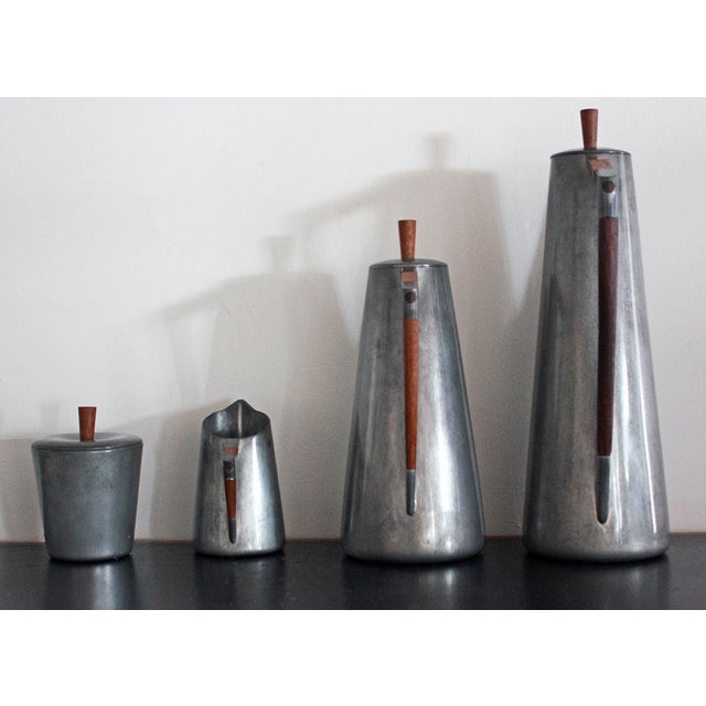 Royal Holland Pewter Coffee Service Set With Tray For Sale - Image 5 of 8